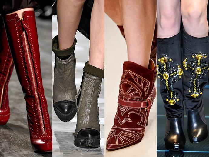 Мода осень 2013 2014 модная обувь мир