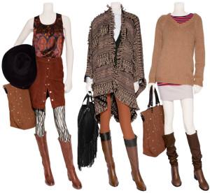 Как выбрать одежду под коричневые сапоги