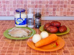 Горшочки с рыбой и картофелем