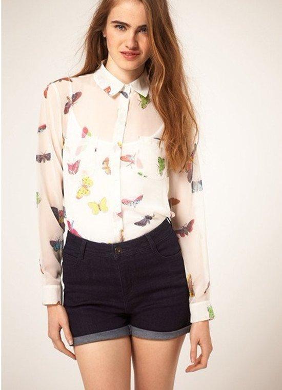 Красивые шифоновые блузки
