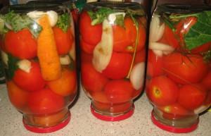Вкусный рецепт приготовления консервированных помидор